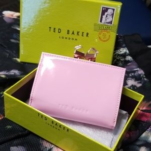 NWT Ted Baker Patent Crystal Popper Purse